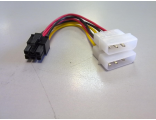 Переходник позволяющий подключать видеокарту с 6-pin разъемом доп. питания к двум 4-pin разъемам для питания HDD29...